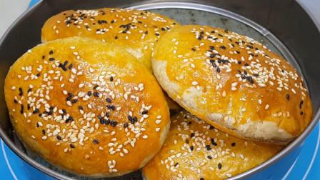 我家面粉就爱这样做,烤箱里一烤,做出特色香酥饼,比面包好吃几十倍