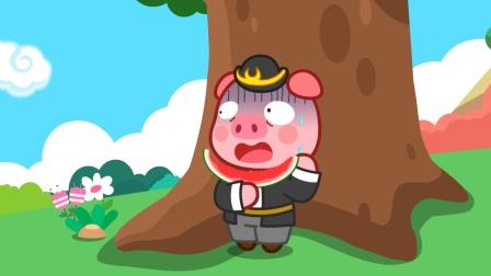 猪八戒偷吃西瓜,被孙悟空狠狠地教训了
