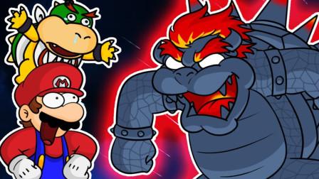 超级玛丽搞笑游戏 马里奥使用超能力瞬移和大力拳