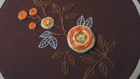 绣花小妙招,圆形花朵的刺绣方法!