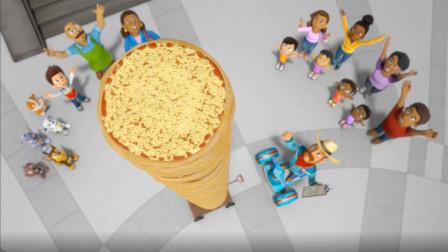 汪汪队立大功第5季:这么高的披萨塔你见过嘛?