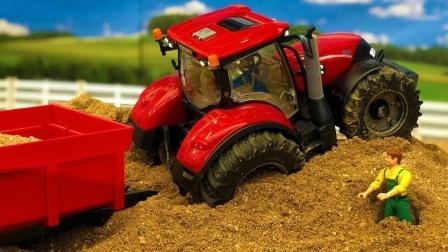 牵引车拖拉机玩具运输沙土