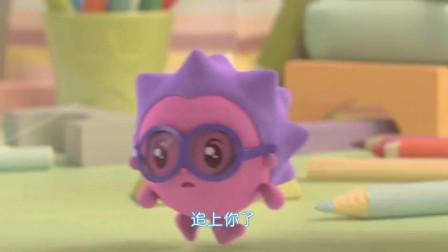瑞奇宝宝:跳跳变成机器人,让诺诺看见,却把诺诺吓坏!