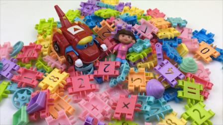帮帮龙出动玩数字积木玩具