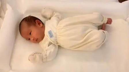 出生第3周小宝宝,吃饱喝足后一脸满足,这宝贝可爱的也是没谁了!