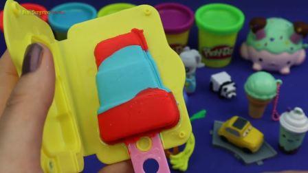 儿童亲子互动,学习儿童制作冰淇淋的颜色,锻炼动手能力