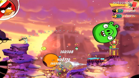 愤怒的小鸟2游戏【1275】冰冻培根,雪地上发现了可疑的猪猪