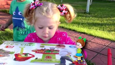 萌娃小可爱收到整整一车的水果,小可爱要把他们放到哪里呢