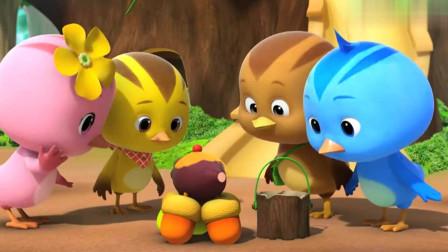 萌鸡小队:小松鼠真是大嘴巴,结果却办成好事,让美佳开心!