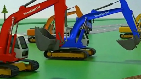 儿童动画:挖机动画