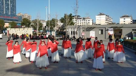 玉儿姐妹舞蹈队学习云裳老师编排的我的中国