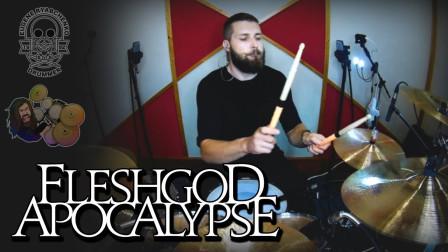 Eugene Ryabchenko - Fleshgod Apocalypse - Blue (Turns To Red) - Drum Playthr...