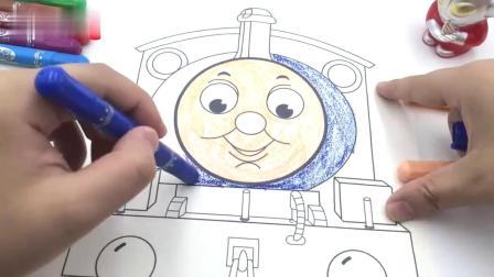 泰罗奥特曼玩托马斯涂鸦画