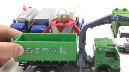 泰罗奥特曼玩环保回收车玩具