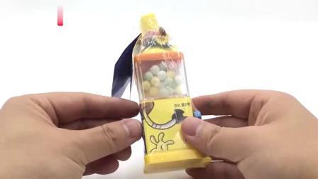 海绵宝宝玩具糖果机拆箱