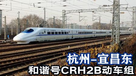 16节长编组的和谐号2B动车,杭州至宜昌东D2188次通过艮山门