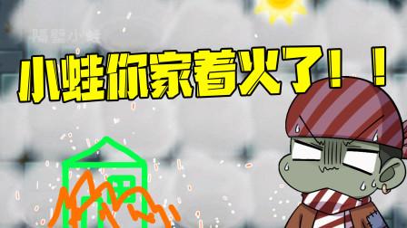 """植物大战僵尸:小蛙家""""着火了""""!僵尸乘机使用隐身术!"""