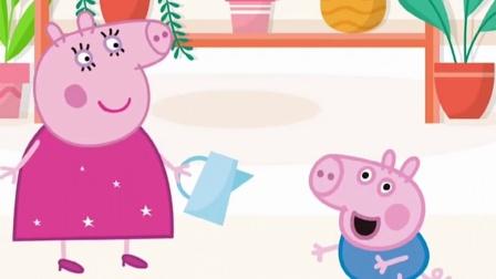 猪妈妈不给乔治买汉堡,佩奇满足了乔治