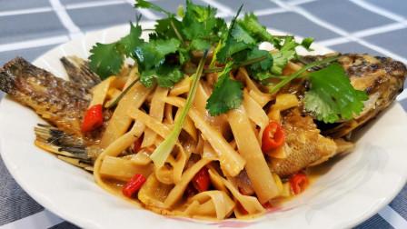 酸笋焖鱼的家常做法,妈妈每次做都能吃个精光,酸辣入味超级下饭