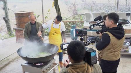 厨师长王刚初次分享拍摄花絮,小团队大力量忙前忙后好热闹