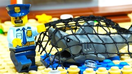 乐高城市鲨鱼攻击失败