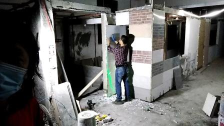 一天学会铺贴厨房墙面瓷砖培训课程,装修手工验收全面合格