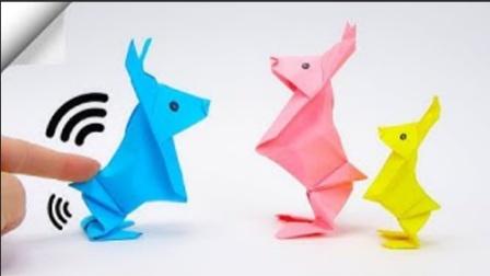 DIY手工:用折纸制作迷你站立兔子