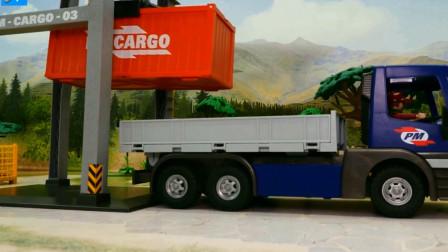 学习认知一起拼装汽车货车吧 创意玩具