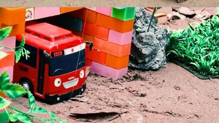 认识工程车玩具 认识巴士汽车和飞机