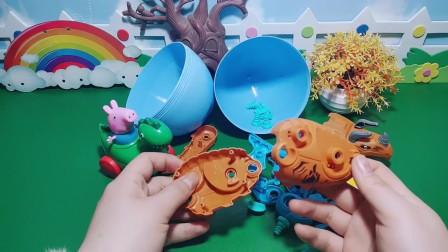 乔治自己完成了拼装恐龙玩具