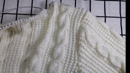 麻花毛衣袖笼和袖山的缝合视频教程, 用钩针缝合袖山袖笼的方法