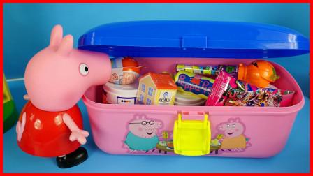 小猪佩奇神奇的礼物盒,有奇趣蛋盲盒惊喜玩具