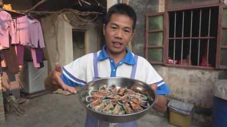昨天在鱼排里摘回来的海鲜宝贝,今天做海鲜大餐,孩子们都抢着吃