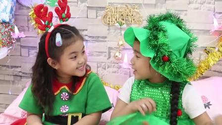 儿童亲子互动,圣诞老人在小萝莉苏瑞睡着的时候,给她们送了礼物