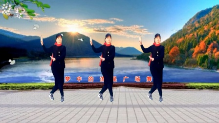 梦中的流星广场舞《长路漫漫陪你走》舞蹈:凤梅