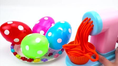 儿童亲子互动,彩泥面条机玩具制作不同颜色的面条,快来看看吧