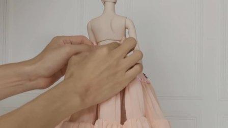 儿童亲子互动,端庄的卡罗琳娃娃的制作过程,太有意思了