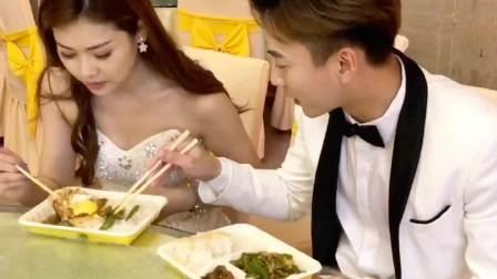不知道你有没有碰到过婚礼现场在吃盒饭?