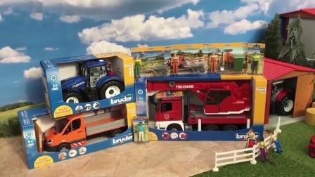 合金卡车模型玩具拆盒
