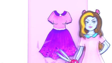 纸娃娃装扮:女孩换装蓝色天使礼服,芭比娃娃的故事!
