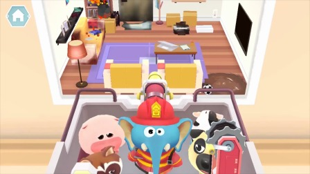 熊猫消防队:大楼里着火了,消防队准备出发!