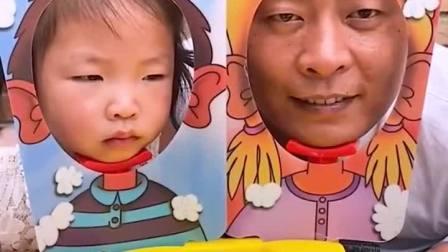 童年趣事:萌娃玩游戏,爸爸挨打!