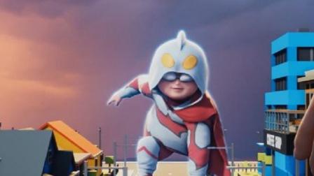 钢铁飞龙:小胖子真厉害,变成奥特曼,一定要解决坏蛋