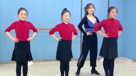 少儿拉丁舞课堂,牛仔舞的正确身体形态是怎么样的?
