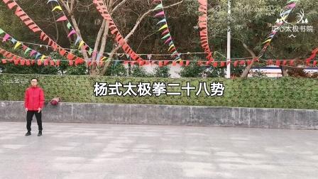杨式太极拳二十八势