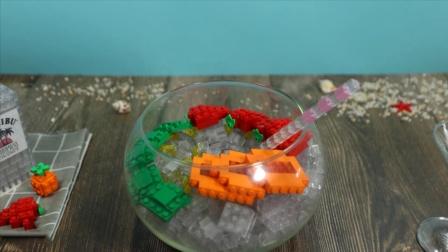 用乐高拼搭一盘冰凉清爽的水果刨冰