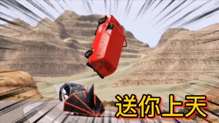 车祸模拟器233 开着面包车去送货 路遇奇葩造型车被顶上天