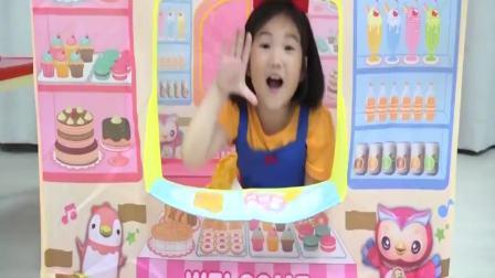 国外少儿时尚:小女孩做甜筒冰激淋,好有趣呀