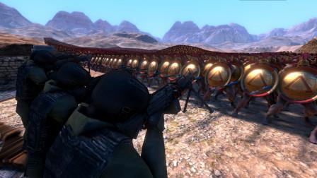 50名特种兵手持M249,能否挡下10000名斯巴达勇士冲锋-小祁游戏