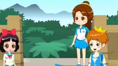 搞笑动漫,大头太小不能玩滑板,围裙妈妈这样做太自私